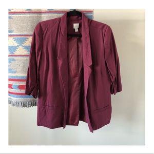 LC Lauren Conrad Jackets & Coats - EUC | LC Lauren Conrad Maroon/Berry Blazer